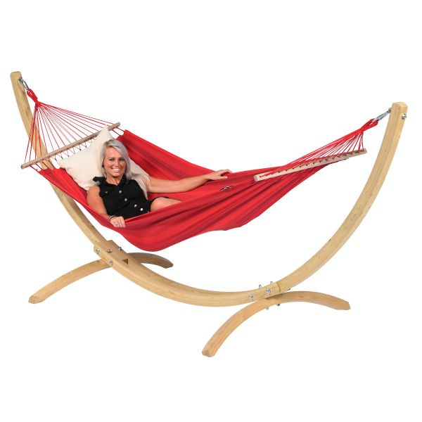 Wood & Relax Red Hamaca Individual con Soporte