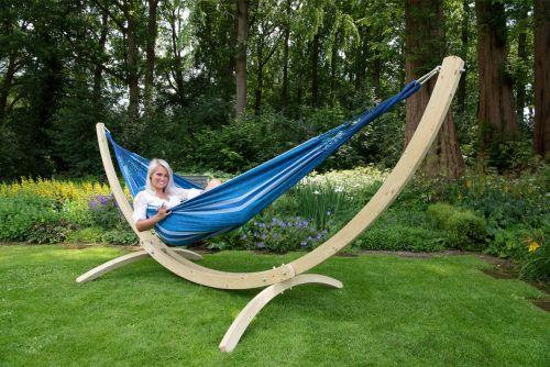 Wood & Chill Calm Hamaca Doble con Soporte
