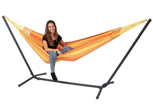 Easy & Dream Orange Hamaca Individual con Soporte