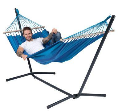 Easy & Relax Blue Hamaca Individual con Soporte