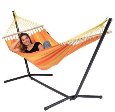 Easy & Relax Orange Hamaca Individual con Soporte