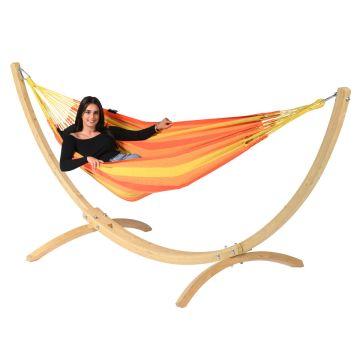 Wood & Dream Orange Hamaca Individual con Soporte