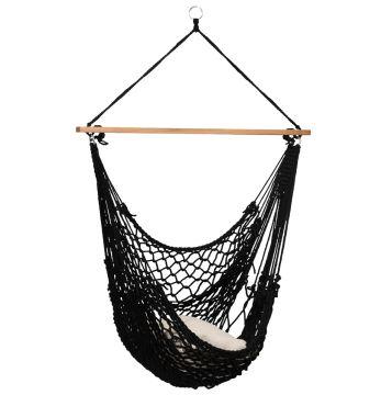 Rope Black Silla Colgante Individual