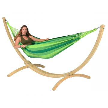 Wood & Dream Green Hamaca Individual con Soporte