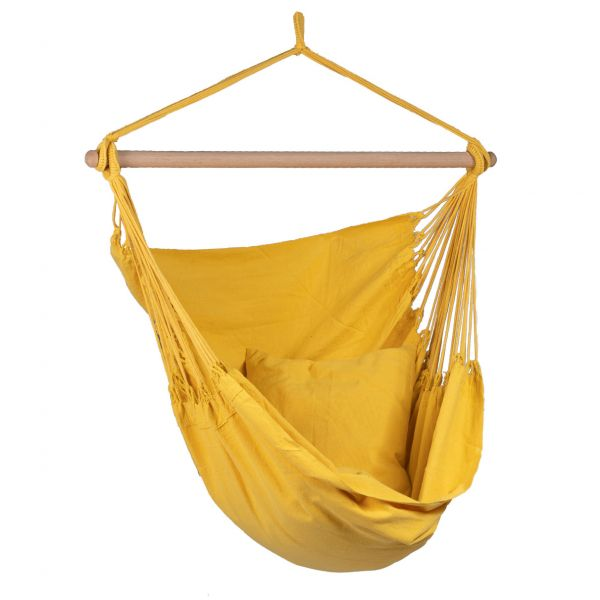 'Organic' Yellow Silla Colgante Individual
