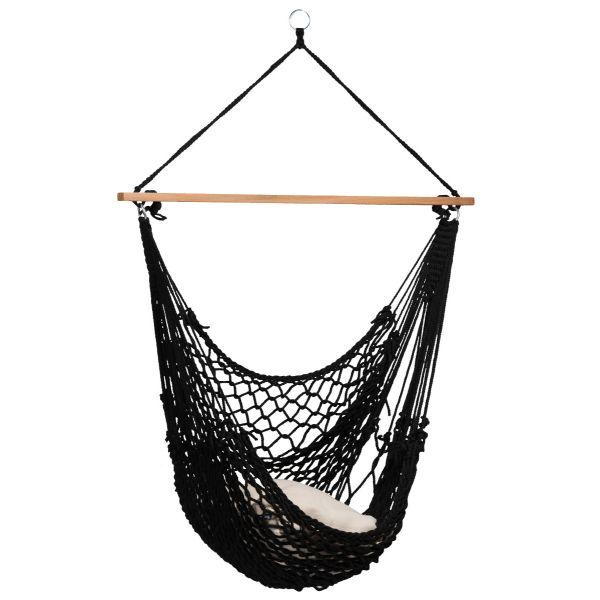 'Rope' Black Silla Colgante Individual