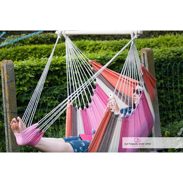 'Tropical' Lychee Lounge Silla Colgante Individual